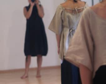 Lagenlook tulip dress/ Balloon dress/ Custom made Minimalist fashion by NervousWardrobe on Etsy