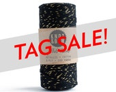 Five Dollar Tag Sale Twine / Gold/Black Glitter Twine