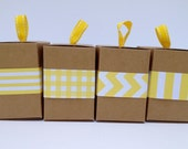 Narrow Yellow Paper Ribbon in Pattern of Your Choice