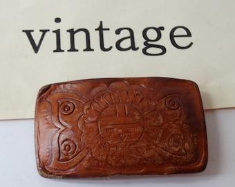 Vintage Belt Buckle Western Leather