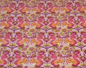 "LAMINATED Cotton  - Pink Squirrels, 56"" Wide, BPA & PVC Free"