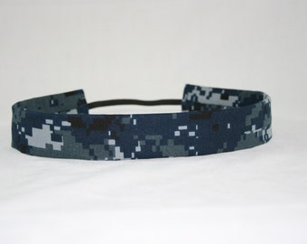 NWU Navy Adult Headband Military Blue Digital Camo