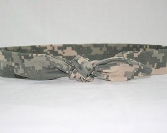 US Army ACU child size headband with tie
