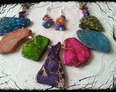 Turquoise Necklace, Stone Necklace, Blue Necklace, Green Stone Necklace, Turquoise Jewelry, Pink Turquoise, Easter Necklace, Easter Jewelry