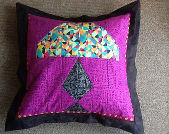 TIFFANY LAMP PILLOW Cover - Original Signed by Artist #107  Janelle Lombard