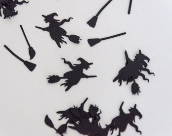 Witches and Broom Sticks Halloween Table Confetti