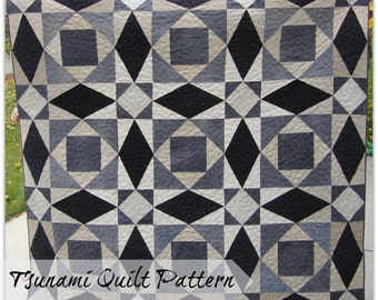 """Tsunami (A Giant """"Storm At Sea"""") Quilt Pattern"""