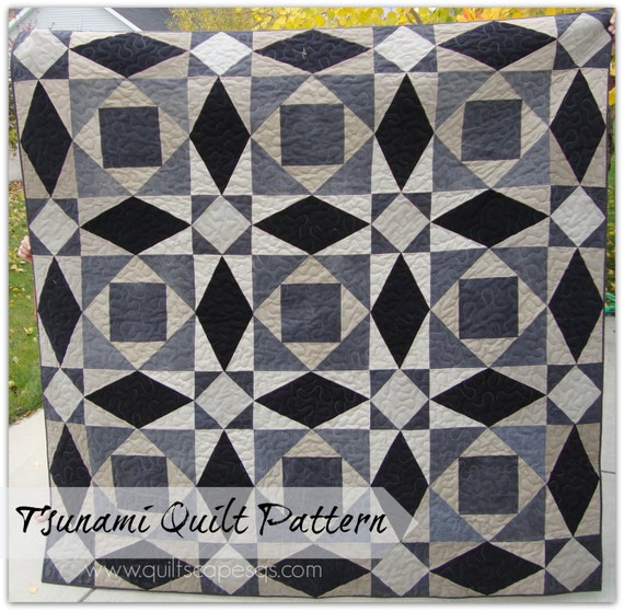 storm at sea quilt template - tsunami a giant storm at sea quilt pattern