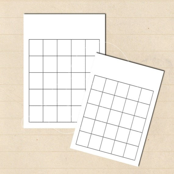 diy bingo 4x6 inch game board blank by erikasgraphicdesign on etsy. Black Bedroom Furniture Sets. Home Design Ideas