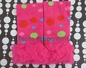 Leg Warmers,Baby Leg Warmers, Baby Leggings, toddler leg warmers - Hot Pink Dots Leg Warmers