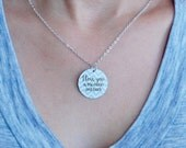 I love you to the moon and back charm necklace