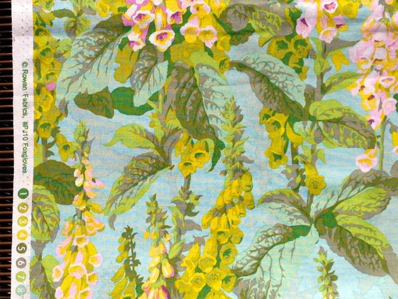 SALE : Philip Jacobs Foxgloves Spring PJ10 Westminster Rowan Fabrics FQ or more