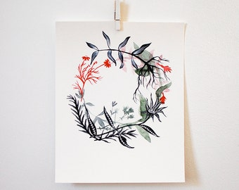 Healing Wreath - Happiness, print