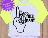 I'm This Many Raglan Birthday Shirt 1 2 3 4 5 Birthday Tshirt 5 Color Options Kids Birthday Number Shirt Raglan Birthday Shirt Birthday