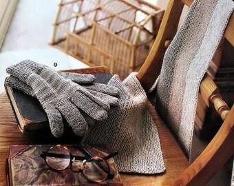 Japanese Knitting Craft Book, Knit Scarf Pattern, Knit Gloves Pattern, Knit Hat Pattern, Knit Socks Pattern
