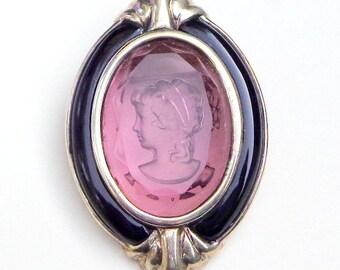 SALS, Vintage, Italian Sterling Silver Brooch/Pendent