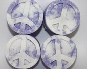 4 Peace Sign Bath Bombs/Shower Tablets - bath fizzy, bath fizzies, shower bomb, shower fizzy, party favor, hippie, relax, spa, 60s, 70s