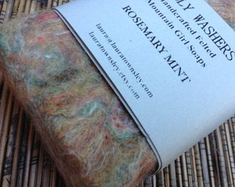 Handfelted Mountain Girl Soap Rosemary Mint