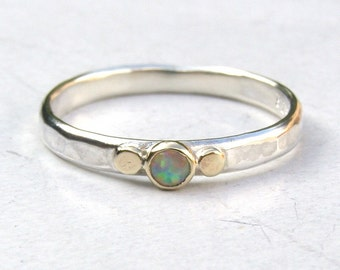 White opal ring ,Engagement Ring ,14k gold ring ,silver ring,Opal  ring, Sale for holidays, New year gift, Gift for her,birthday gift