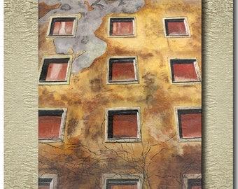 Facade - Fine Art Print on heavy Cotton Canvas - unframed