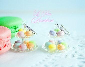 Macarons chandelier earrings