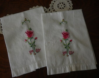 Vintage Crochet Embroidered Hand