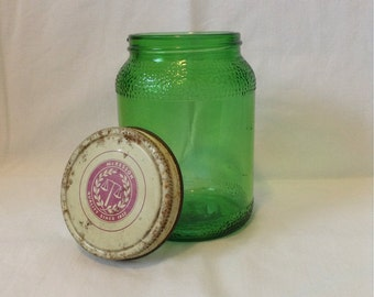 Vintage Apothecary Jar Green Glass 1930s Era McKesson