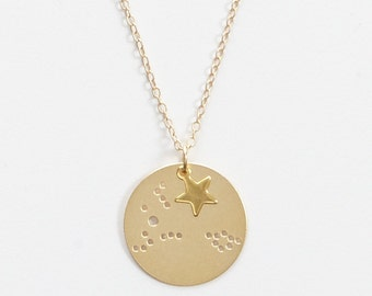 Pisces Small Constellation Charm Necklace