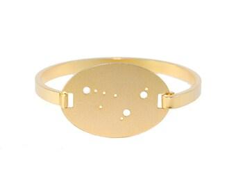Capricorn Gold Flash Constellation Hinged Bracelet