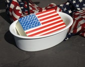 Fourth of July Flag soap celebration stars and stripes perfect for Fathers Day Patriotic Soap