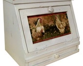 Country Rooster Bread Box w/ Drawer