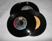 50 Vintage vinyl 45 rpm Records For Craft and Party Decor