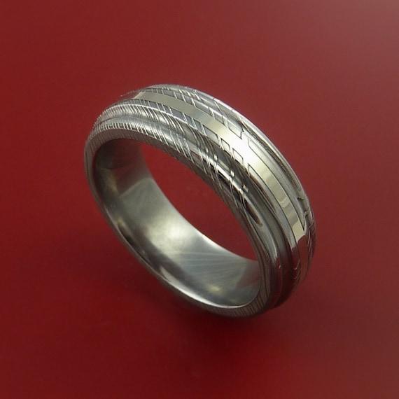 Damascus Steel Ring Women's Wedding Band Twisted Organic |Damascus Steel Rings For Women