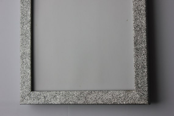 Glitter Photo Frame Silver Glittery Sparkle Picture Frame For