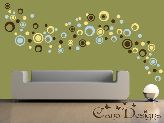 Dots And Rings Colors Sizes Vinyl Wall Decals - Custom vinyl wall decals circles