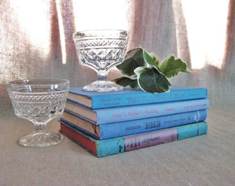 Vintage Books in Shades of Blue for Wedding or Home Decor