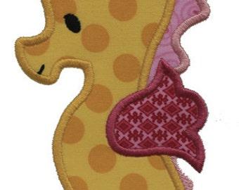 Seahorse - Machine Applique Embroidery Design - 3 Sizes (079)