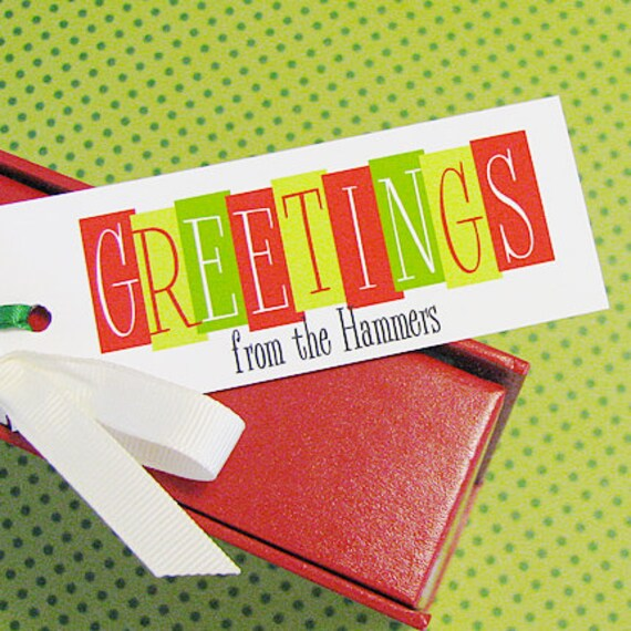 Retro Greetings#Personalized #Holiday Gift Tags
