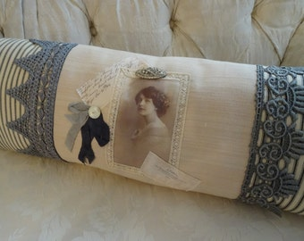 SALE Shabby Cottage Chic Victorian OOAK Lovely Pillow