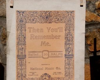 Antique Sheet Music