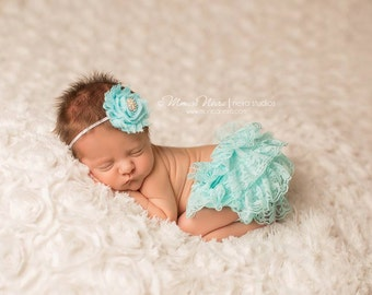 Bloomer Set, bloomer with headband, baby bloomers, newborn bloomers, ruffle bloomers, newborn photo prop