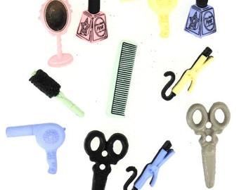 Hair Salon Cabochon Embellishments 11pc