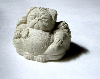 PUG Angel Mini Bonsai Terrarium Figurine Sculpture