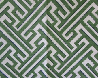 TRELLIS KELLY green designer, drapery/bedding/upholstery ikat fabric