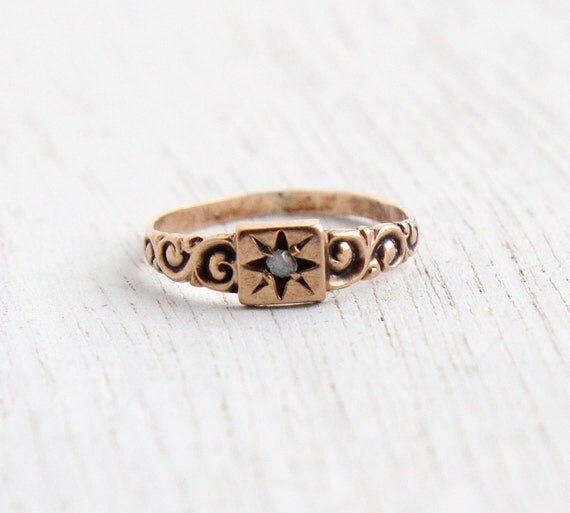 antique 10k gold ring by maejeanvintage