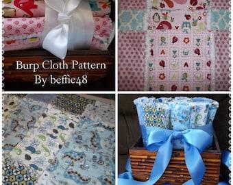 Rag Burp Cloth Pattern Tutorial, Pdf w photos