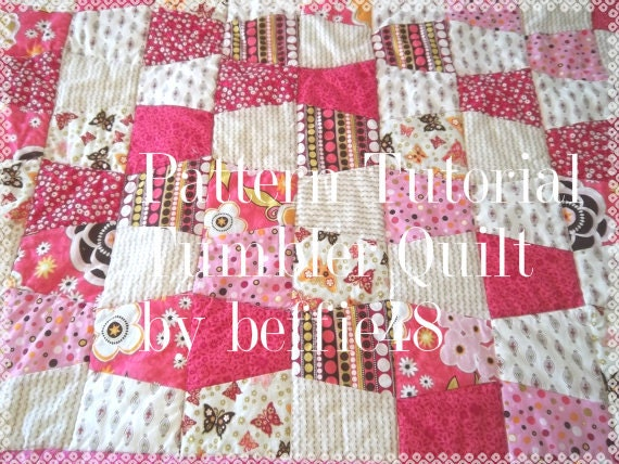 Tumbler Baby Quilt  Pattern Tutorial with lots of Photos, Pdf File, Download Thru Etsy