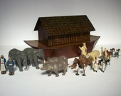 Antique Toy / Noah's Ark / Britain's Set 1550 / 25 Pieces / Bible Toy / 1937-1941 only / Exceptionally RARE Toy / Made in England