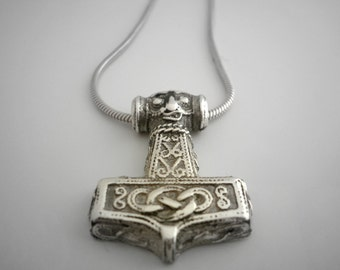 Sterling Silver Thor Hammer Pendant