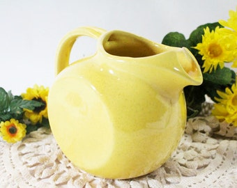 SALE - Vintage McCoy Yellow Water Pitcher